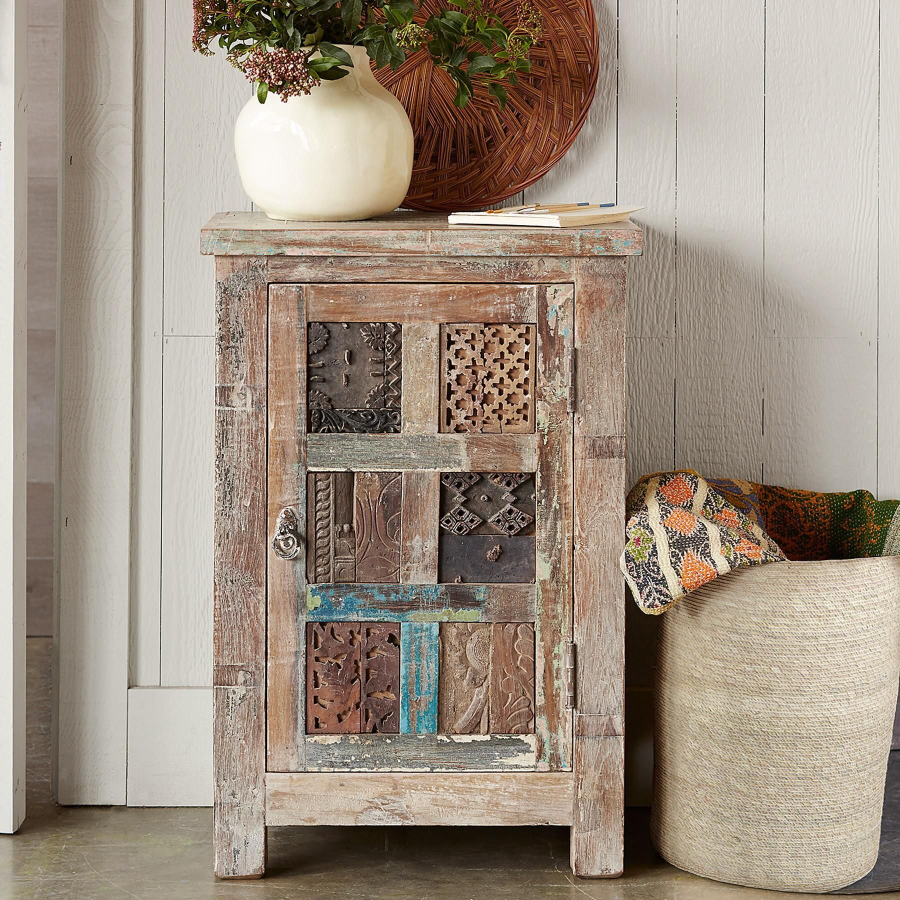 Carved Door Cabinet  The Past Is Recycled In A