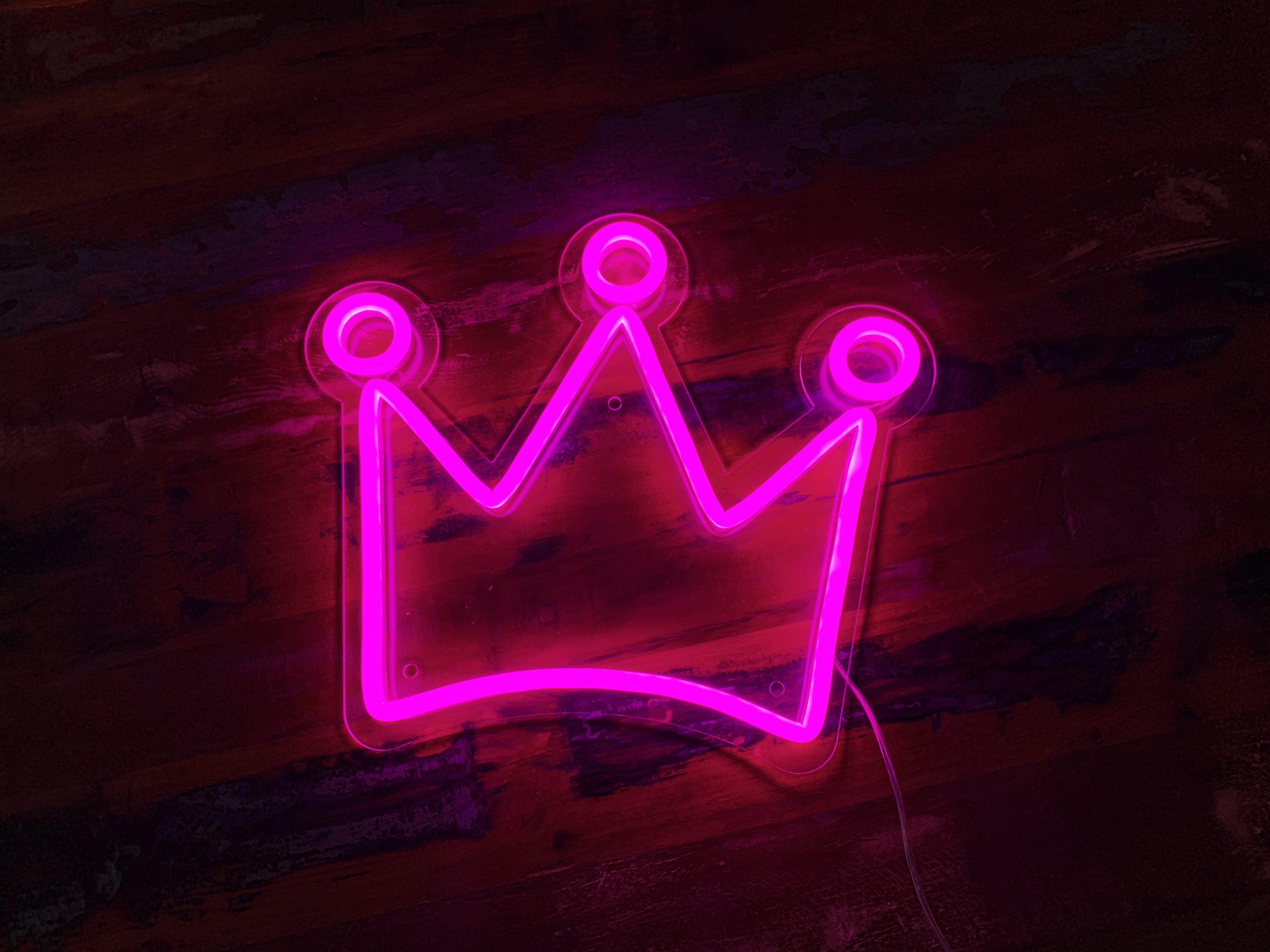 Crown LED Neon Sign Neon signs, Led neon signs, Neon