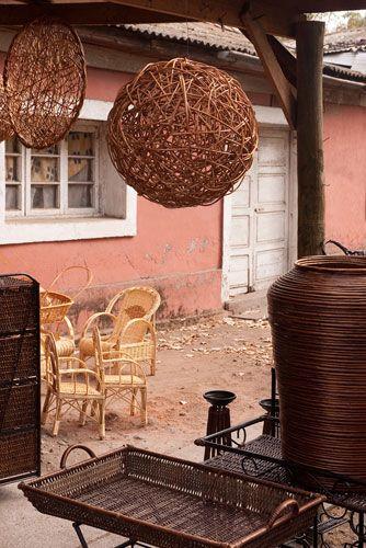Artesanía En Mimbre Chimbarongo Vannerie Boule Muebles