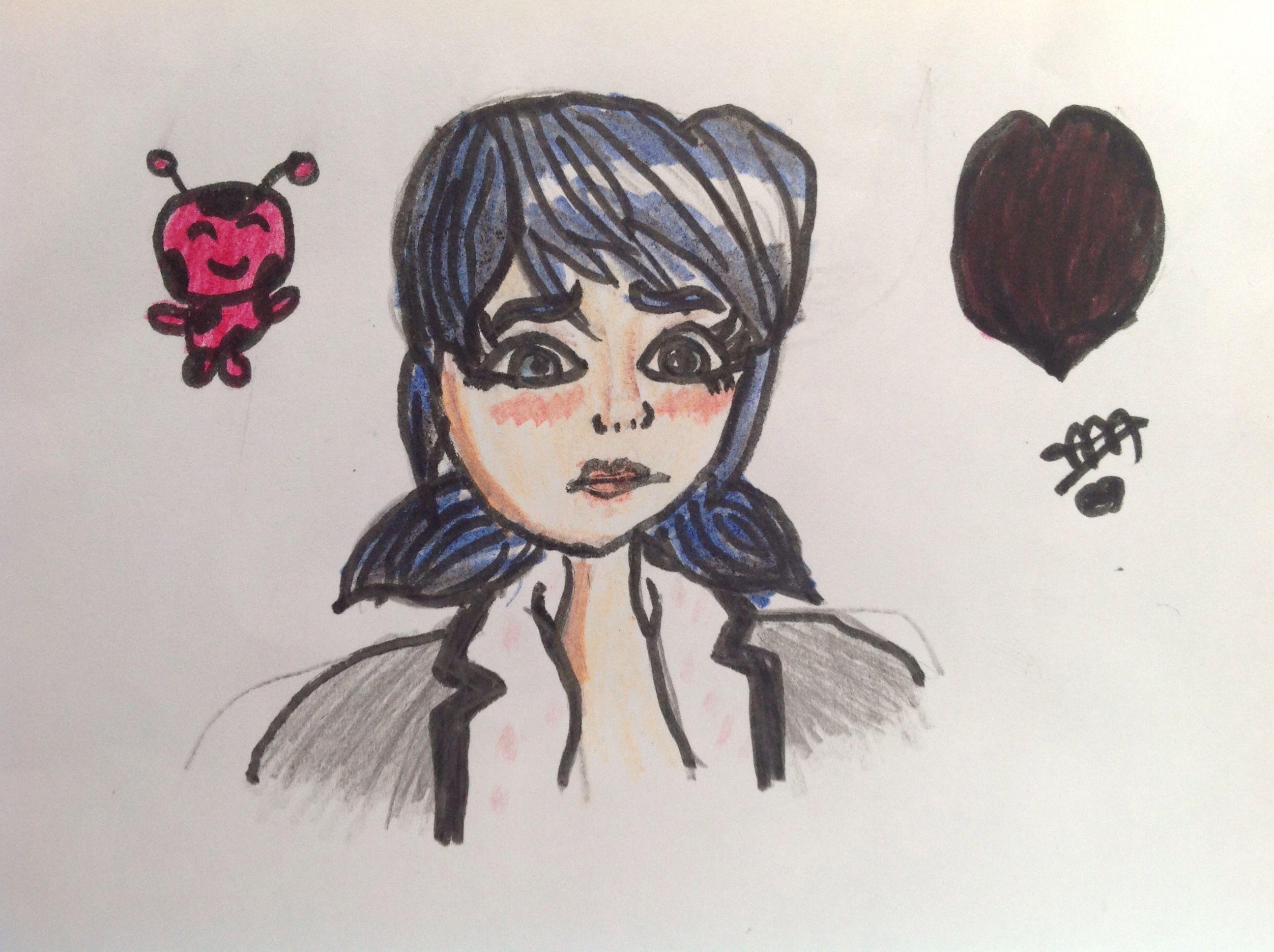 رسم كرتون تحول الدعسوقة العادي Art Female Sketch Humanoid Sketch