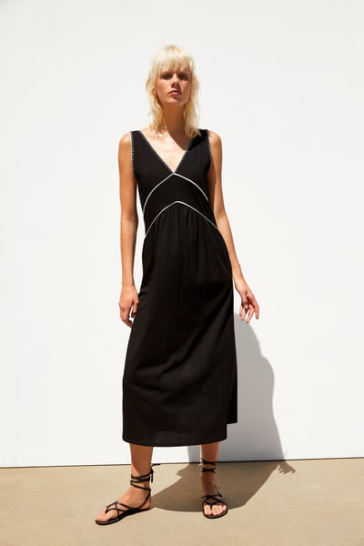 Contrasting dress   Dresses, Outfits, Fashion