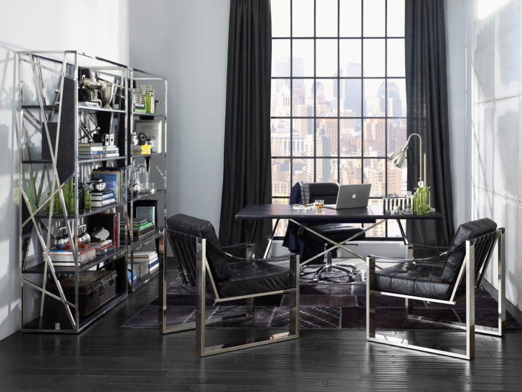 men office decor. Fresh And Stylish Reading Space Decorating Ideas: Wood Flooring Modern Style Black Curtain Office Ideas With Decoration Men Decor E