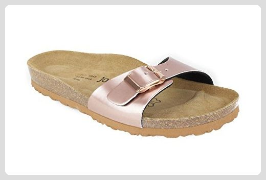 JOE N JOYCE Damen Porto Synsoft Soft Fußbett Sandalen White Patent Größe 42 EU Schmal eJwSe