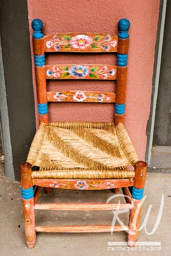 Colorful Chair Taos Plaza New Mexico Frame Mexico Photography Richard Southwestern Style Taos W In 2020 Hand Painted Chairs Mexican Furniture Colorful Chairs
