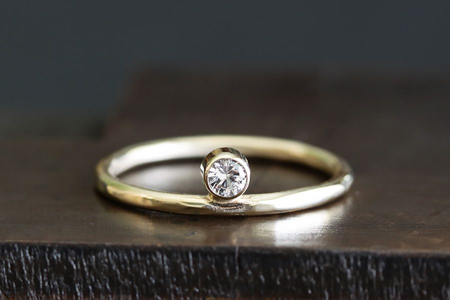 14k gold sole ring from Andrea Bonelli