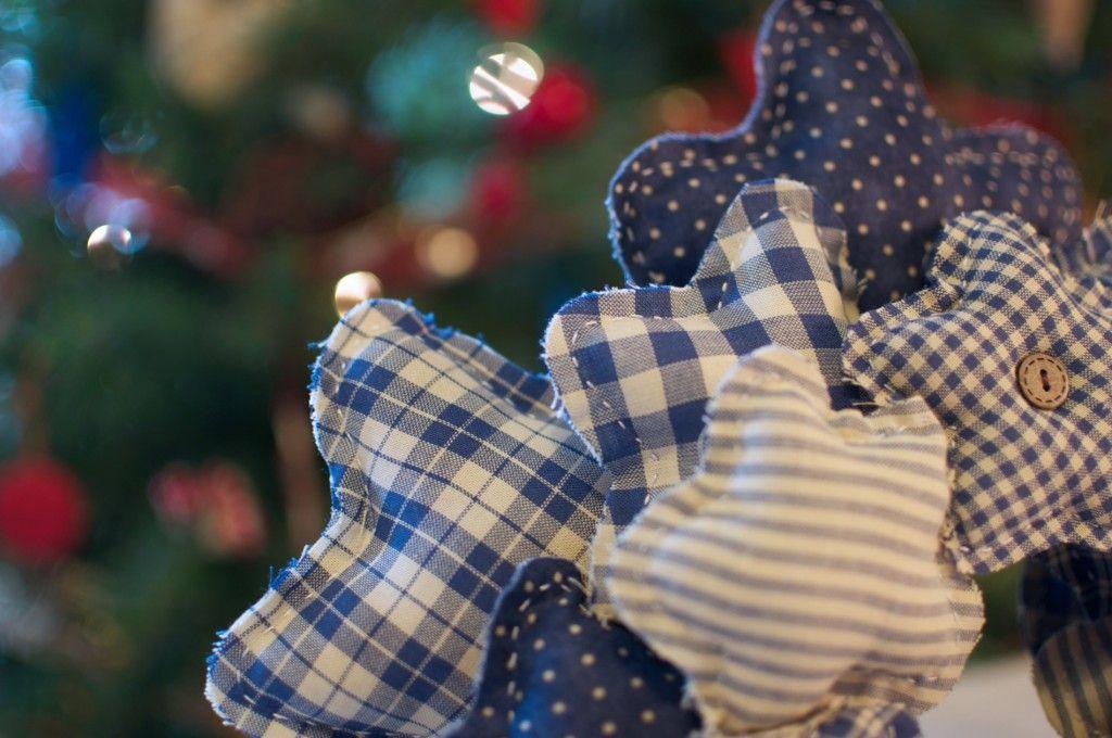 corona de estrellas #navidad #patchwork