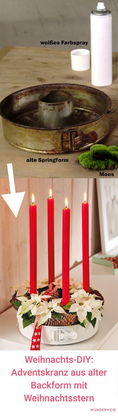 Photo of DIY decoration for Christmas: tinker advent wreath from old baking tin | Wonder woman
