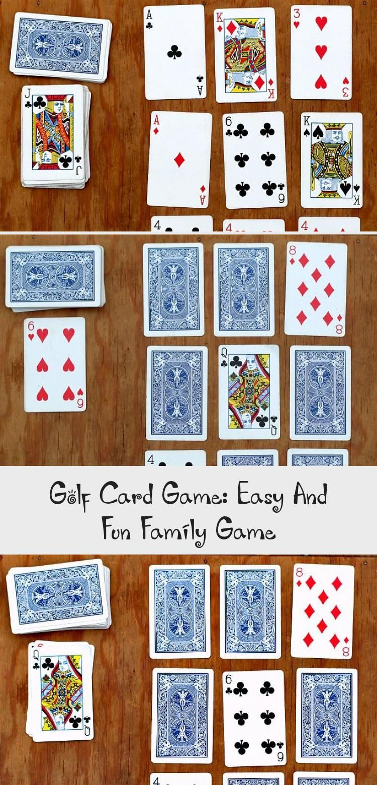 golf card game easy and fun family game