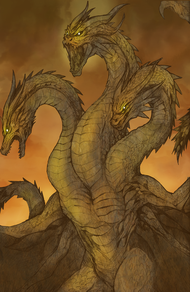 King Ghidorah by ratryu (With images)   Godzilla, Kaiju ...
