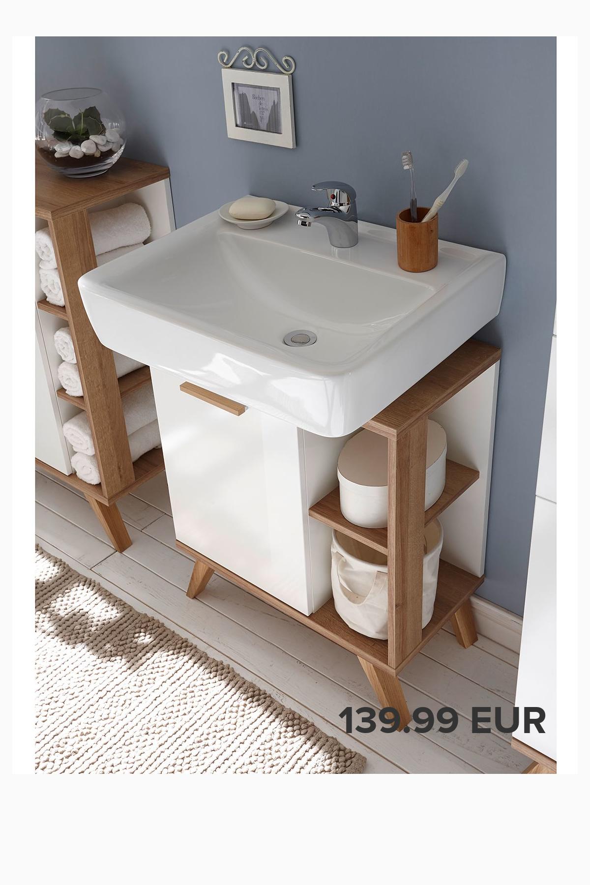 Waschbeckenunterschrank Noventa In 2020 Waschbeckenunterschrank Aufbewahrung Fur Kleines Badezimmer Kleines Bad Dekorieren