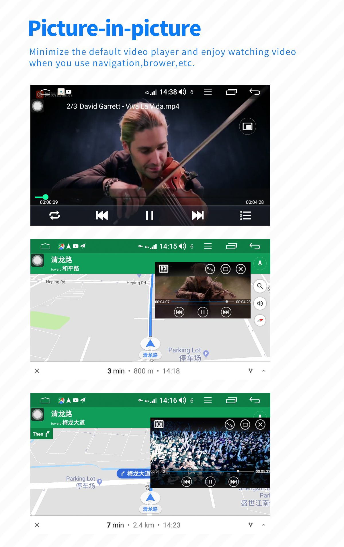 Joying 6.2 Inch Single Din Android 8.1.0 Car Radio