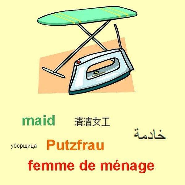 femme de ménage synonyme