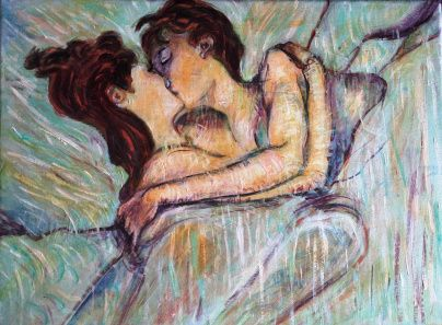 In Bed The Kiss 1892 By French Painter Henri De Toulouse Lautrec Tablolar