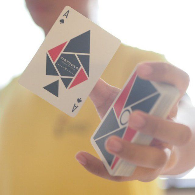 Fancy Virtuoso Deck Of Cards Modern Design Idea Using Geomitric Simple Shapes Cards Deck Of Cards Simple Shapes