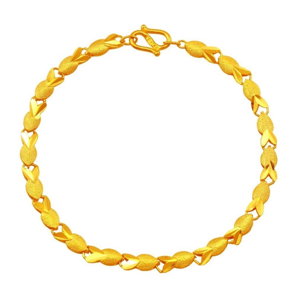 Fashion authentic k yellow gold bracelet unique fish design