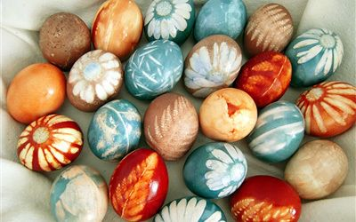 DIY Prírodne zdobené vajíčka