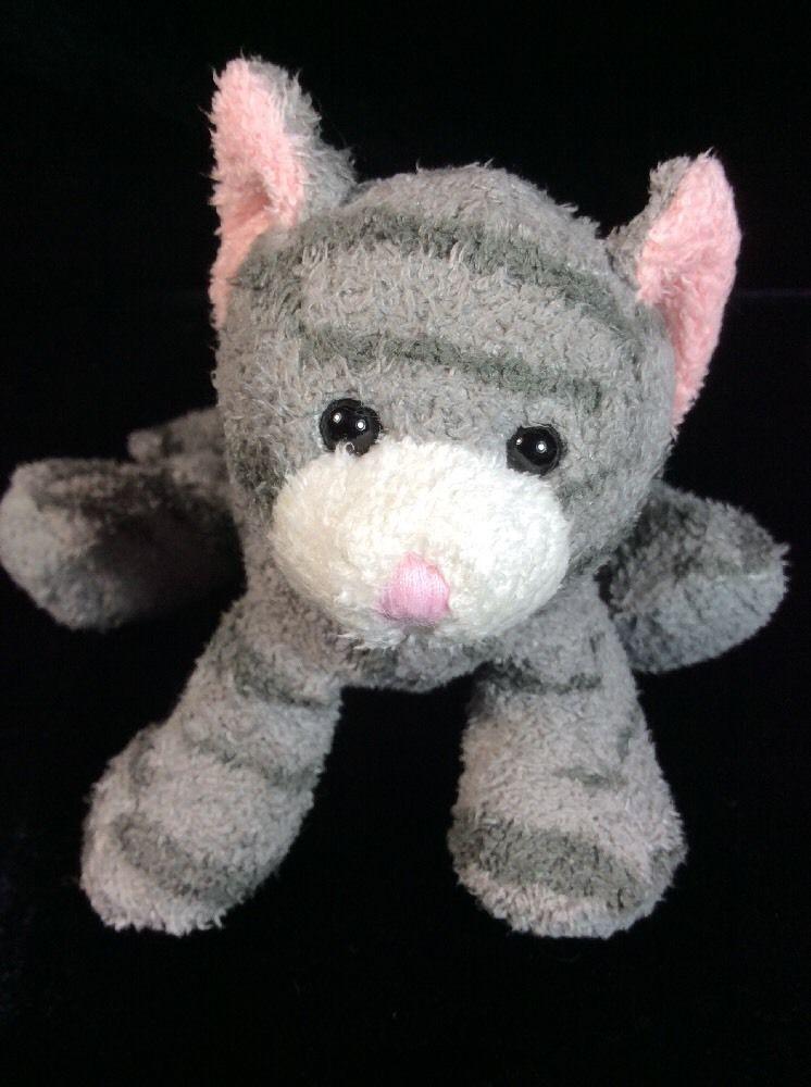 Russ Tabbies Luv Pet Gray Cat Striped Mini Plush Soft Toy Russ