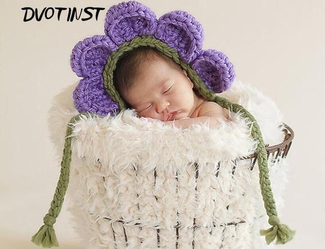 OB Baby Photo Prop Crochet Sunflower Headband