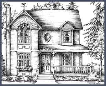 Victorian farm houses in 1900 victorian and country for 1900 victorian house plans