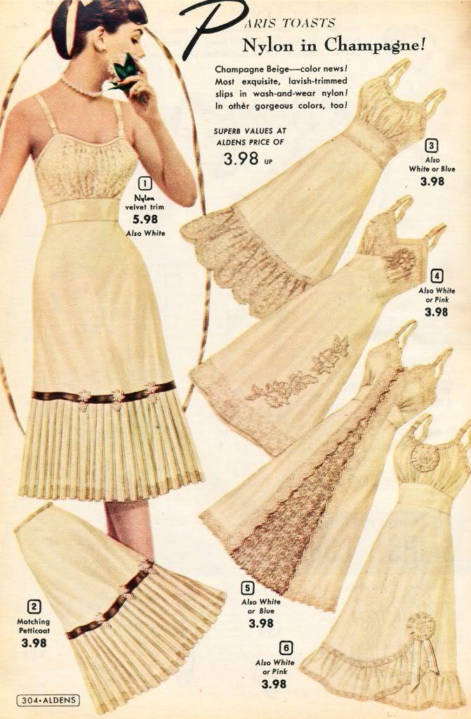 74c44a87f52f Aldens Catalog 1956-57 - Slips, Panties and Jayne Mansfield's Pajamas    vintage 1950s undergarments   50s slips