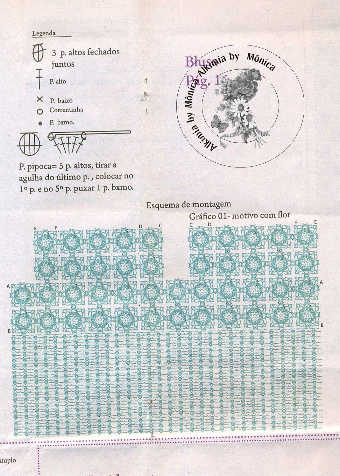 Alkimia: blusa de croche com gráfico