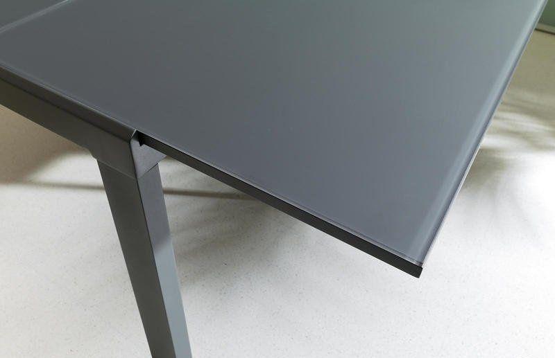 Tavolo Quadrato Allungabile In Vetro Grigio Tavolo Quadrato Allungabile Tavoli Quadrati Tavolo