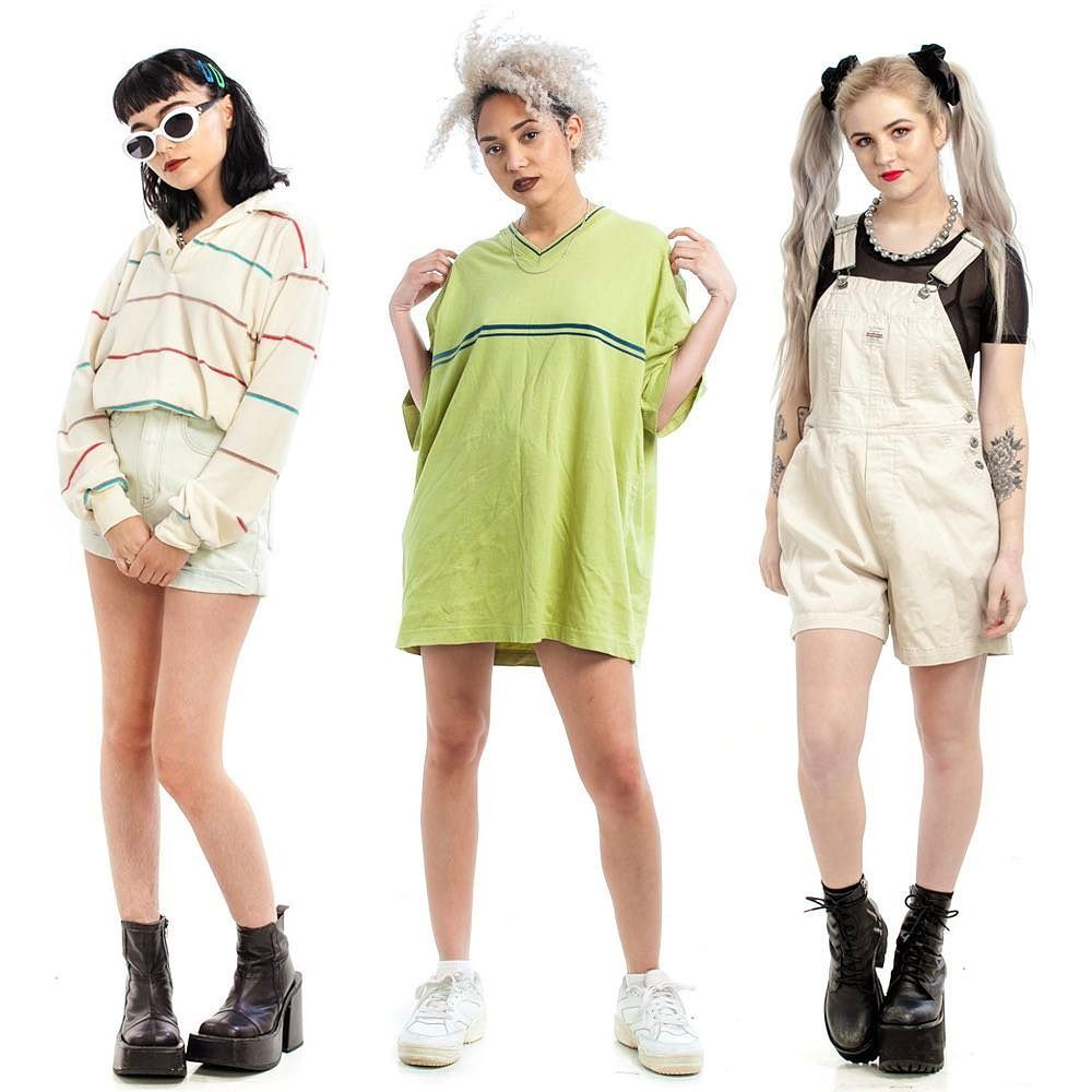80s 90s And Y2k Looks Up For Grabs Now In Today S New Vintage Arrivals 90s Fashion Grunge Outfits Summer Grunge Outfits Neon Outfits