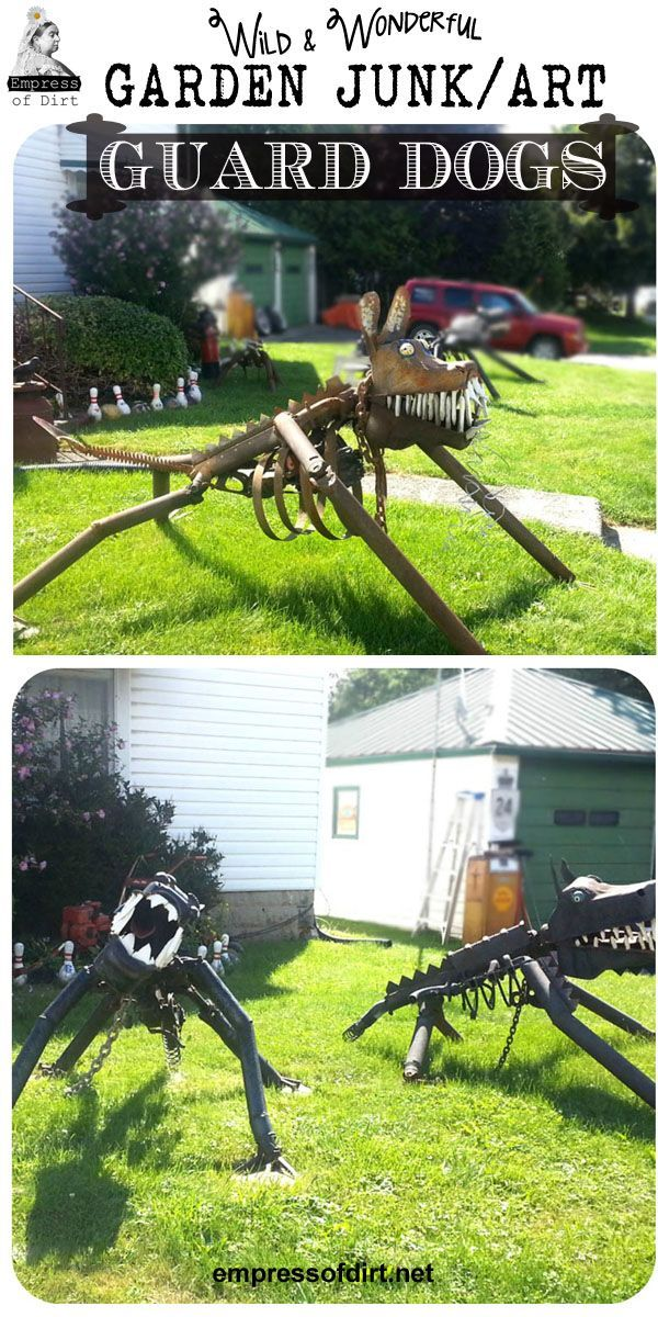 Junk Art Dogs Made From Old Auto Parts   Repurposed Garden Art Decor