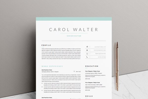 Resume Templates - 5 page Resume Template Upgrade Work resources