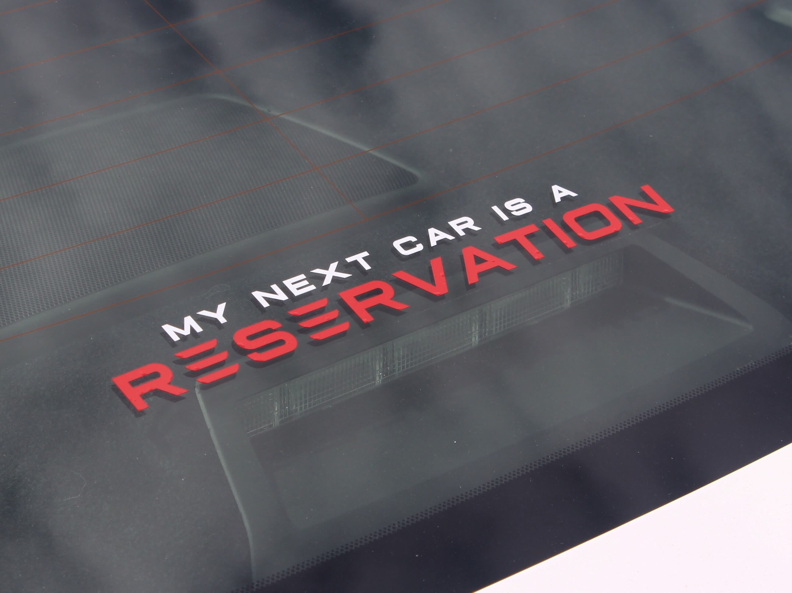 """""""My Next Car Is A Reservation"""" Decal for Tesla Model 3 ..."""