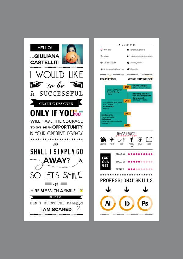 Cover Letter Front Skill Wheel Heaver Weight Paper Graphic Design Resume Resume Design Inspiration Resume Design