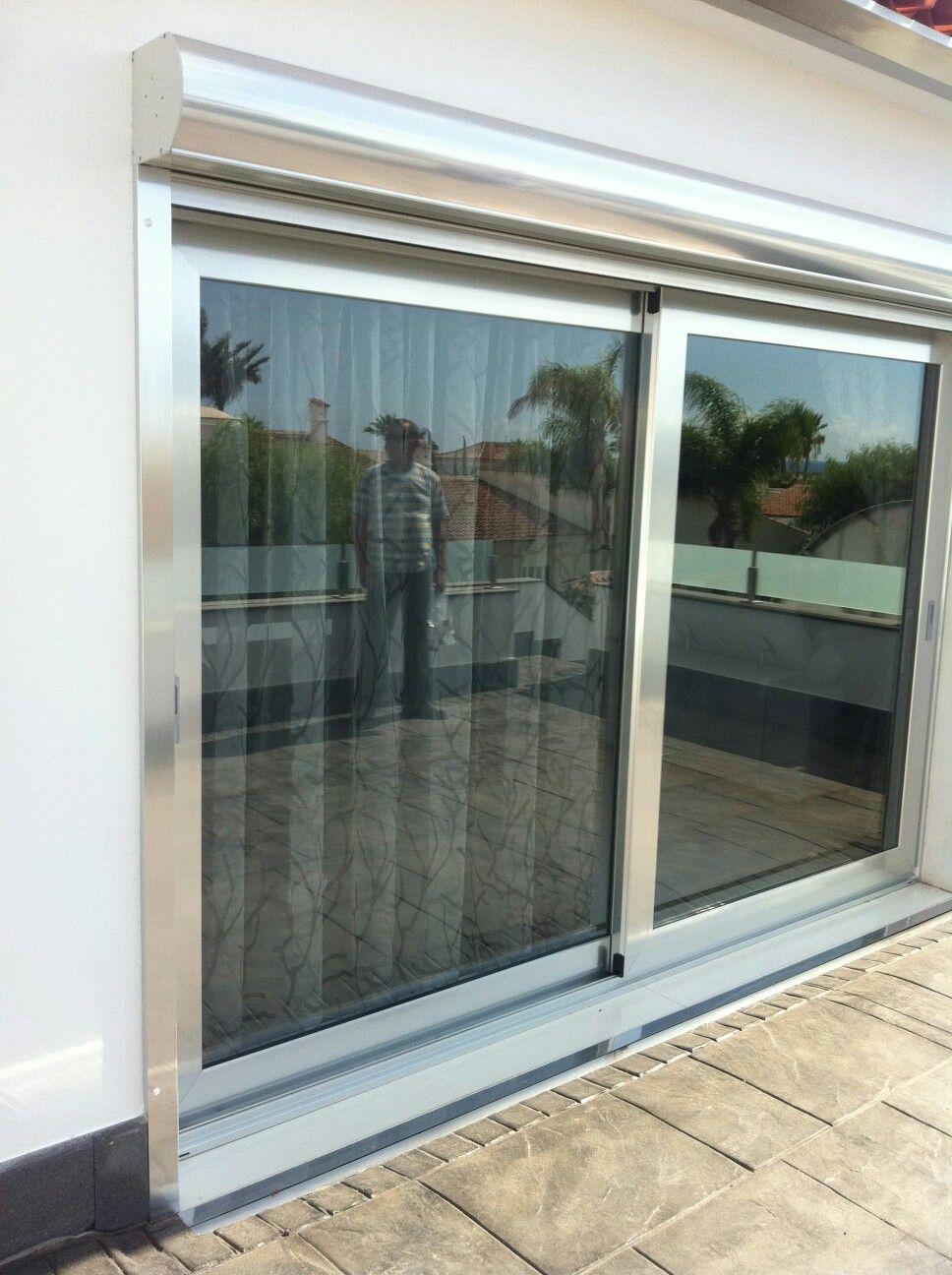 Puertas De Aluminio De Corredera Elebable Y Cristal De Control  ~ Puerta Corredera Cristal Exterior