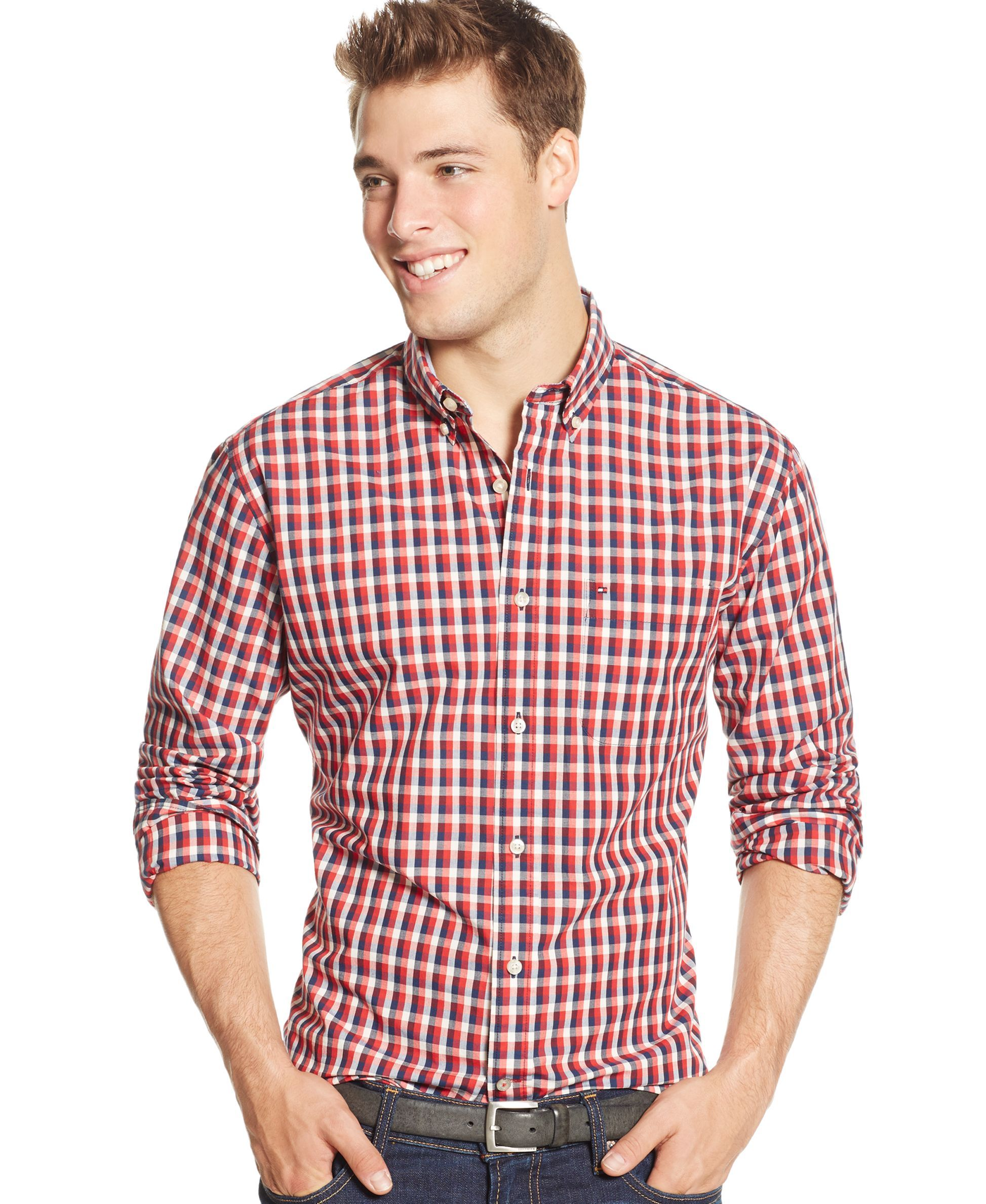 4e787392 Tommy Hilfiger Checkered-Print Long-Sleeve Shirt | Products
