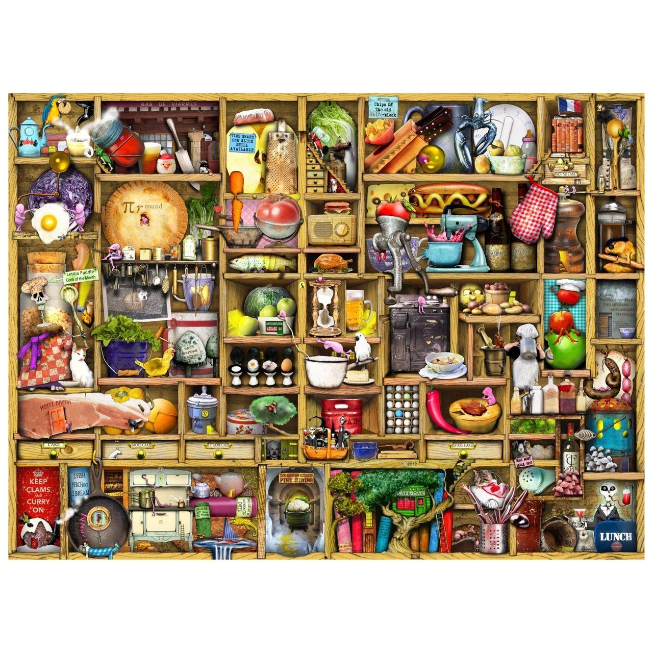 Wentworth Wooden Puzzles Kitchen Cupboard 500 Pieces Wooden