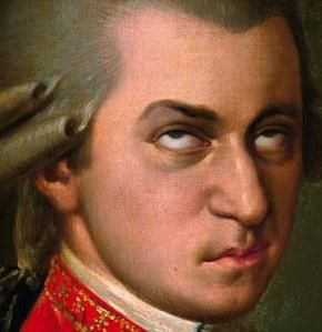 Mozart Rolling Eyes
