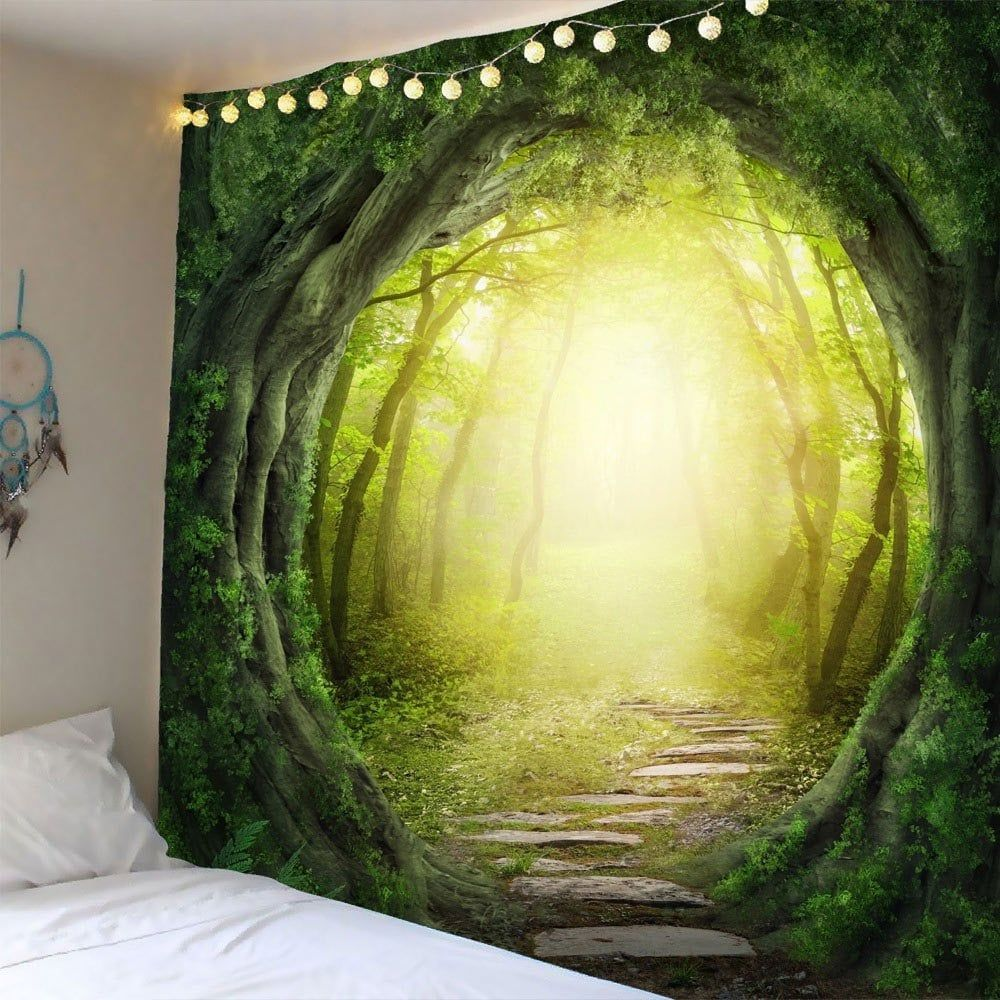 Pathway Tree Hole Waterproof Wall Art Tapestry | Tapestry, Walls and ...