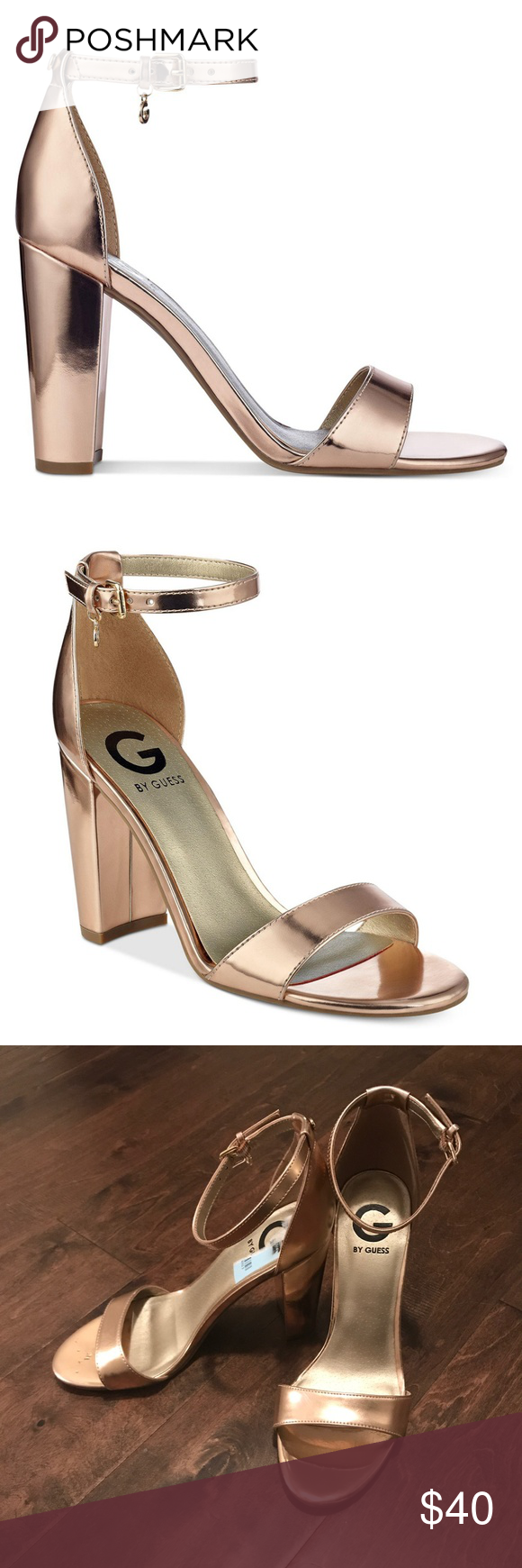 7faae1926 G By Guess Shantel Two-Piece Block Heel Pumps In great condition! Like new