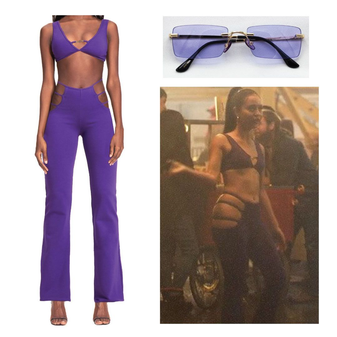 Maddy Euphoria Purple Halloween Outfit #maddyeuphoriaoutfits