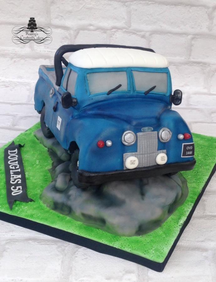 Landrover cake - Cake by Karen - karenscraftedcakes