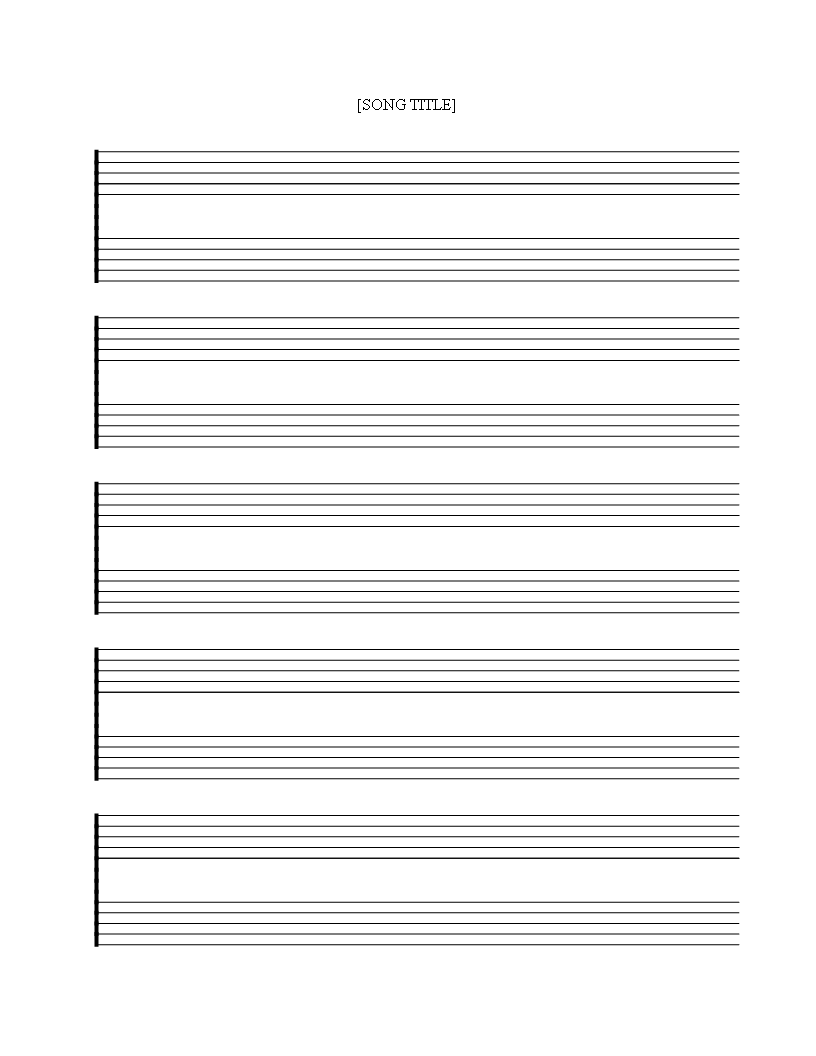 Free printable Music Staff Sheet 5 double lines - Download this free ...