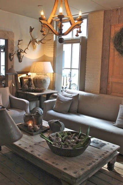 Landelijk alpen chic wohnen haus und wohnzimmer - Alpen dekoration ...