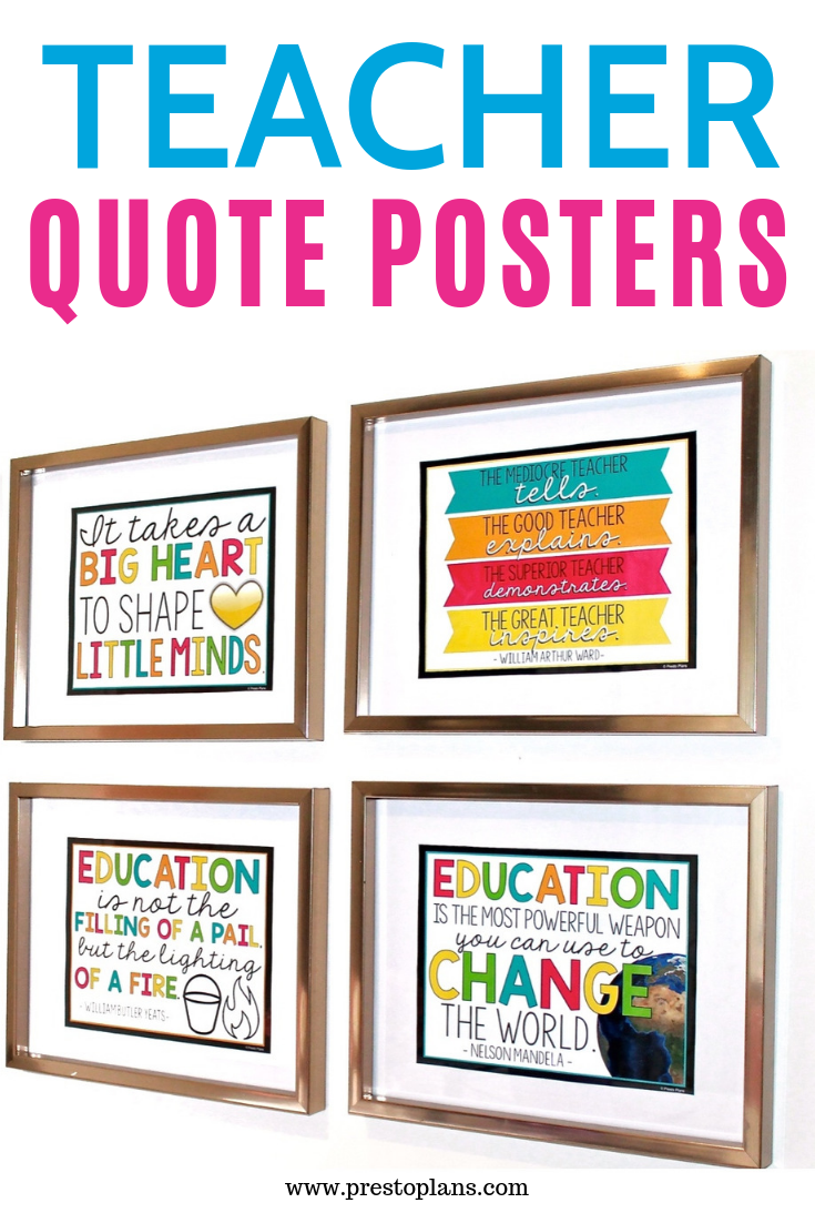 Teacher Quote Posters Bookmarks Teacher Quotes Teacher Posters Quote Posters