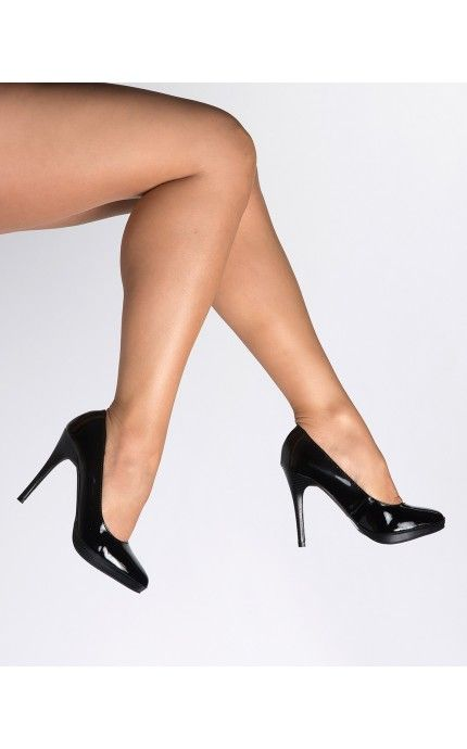 Pinup Girl Clothing- Bliss Pump in Shiny Black Patent | Pinup Girl Clothing