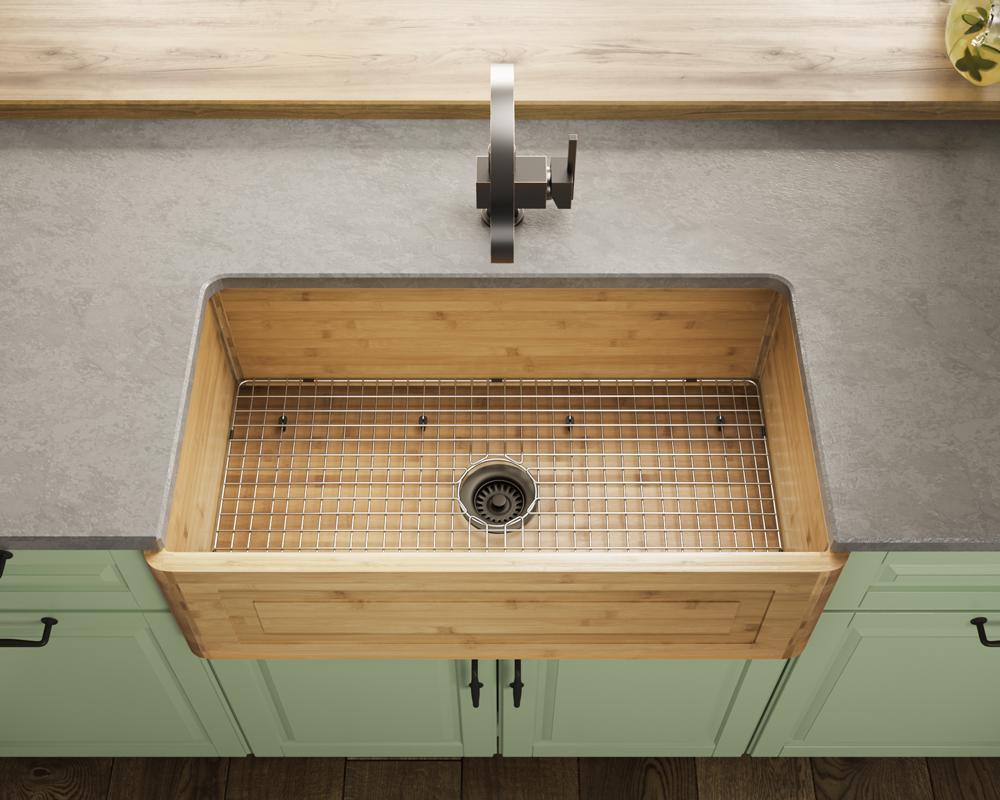 894 Single Bowl Bamboo Apron Sink Kitchen Sink Design Apron Sink Kitchen Farmhouse Apron Kitchen Sinks
