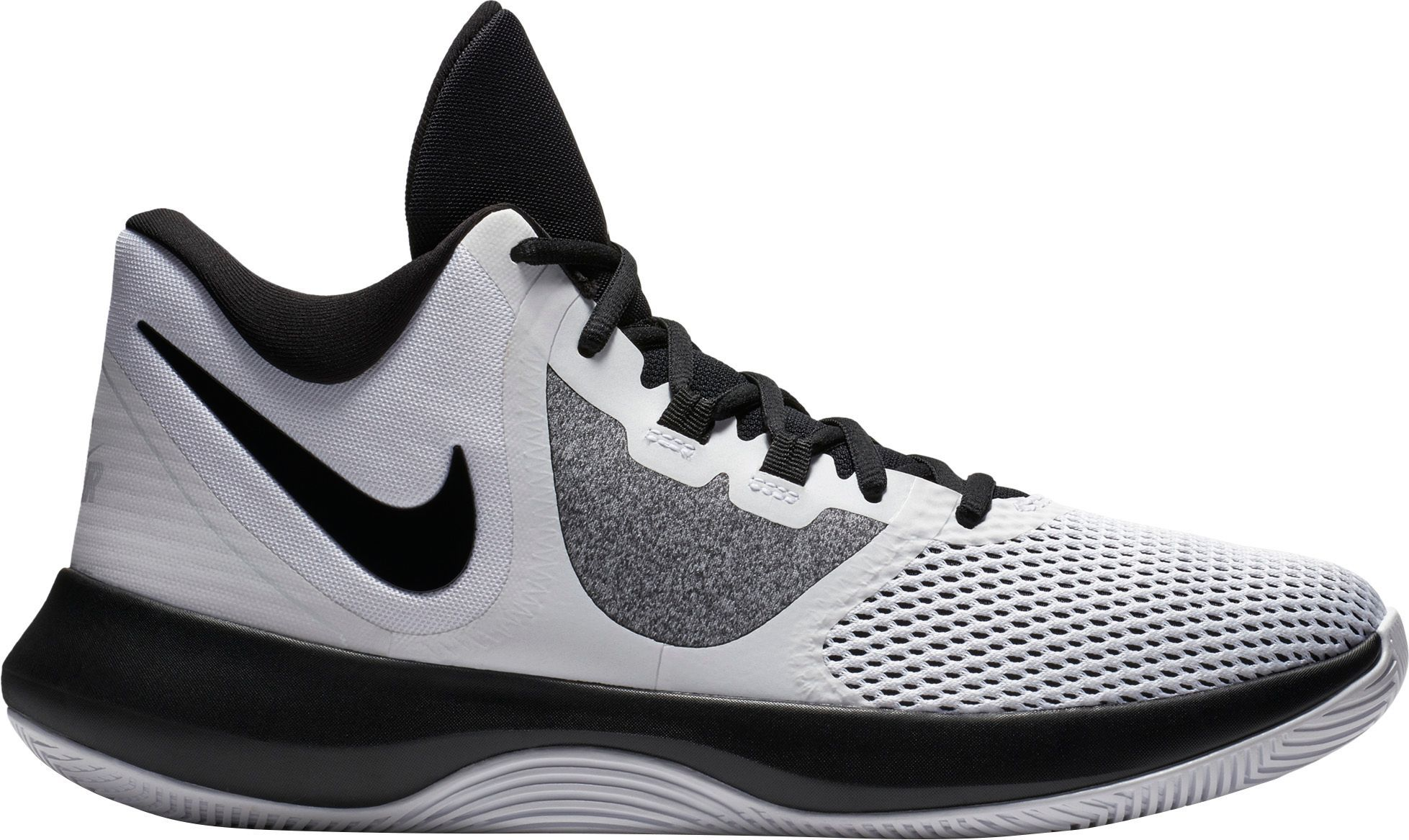 new concept 777c9 857ff Nike Air Precision II Basketball Shoes, White Black White