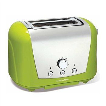 Accents Lime Green 2 Slice Toaster