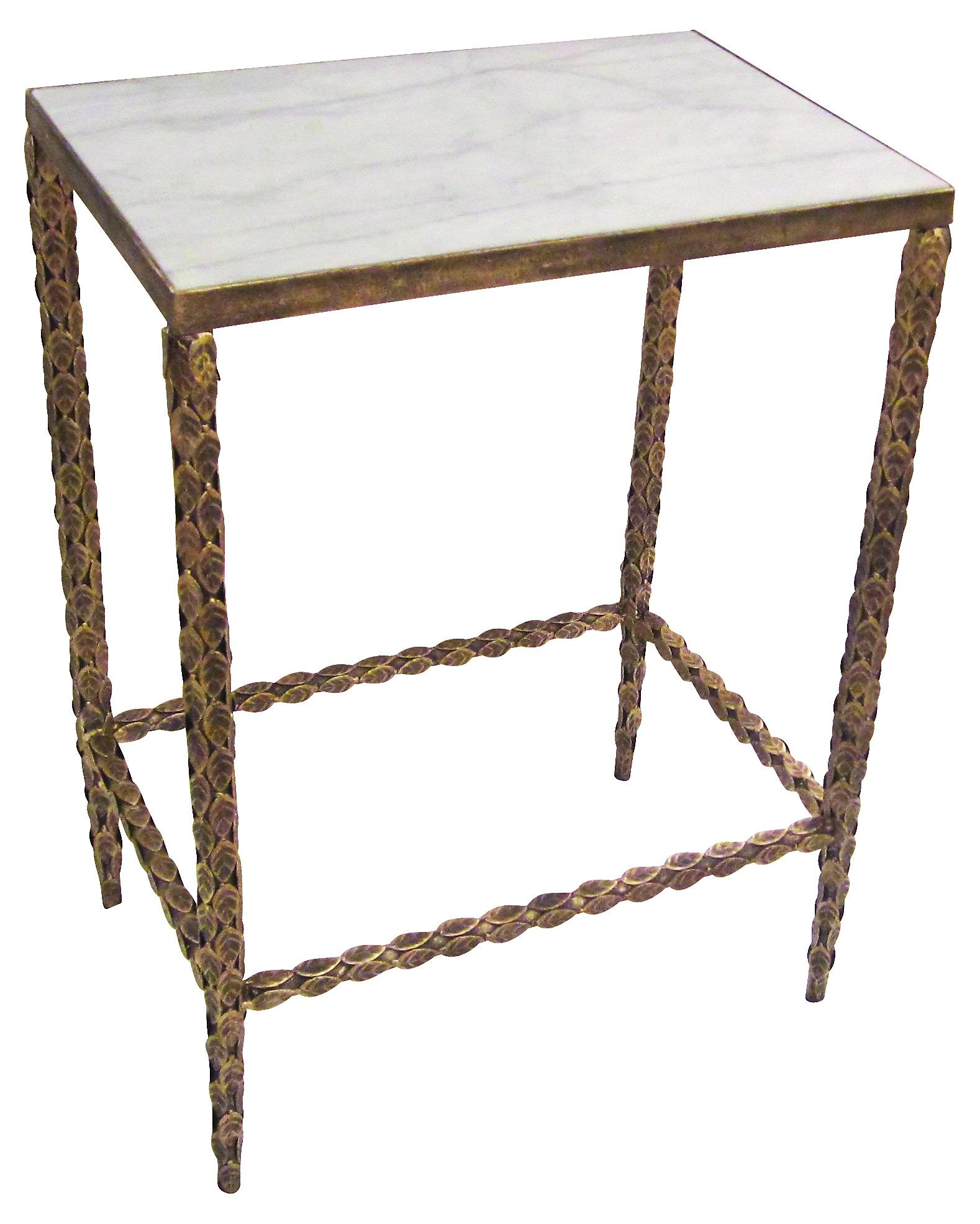 this table pairs a burnished gold frame with a cream marble inset rh pinterest com