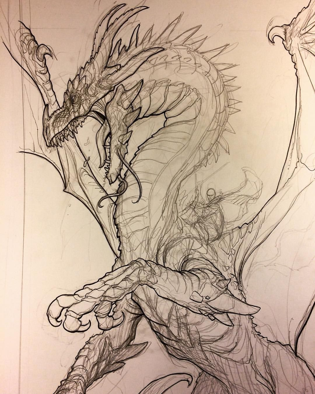 """Frank Cho on Instagram: """"Drawing the badass Dragon-riding villain splash page. I'm prepping the story for a massive battle between Skybourne and the main villain. I…"""""""