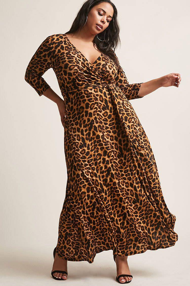 cc8c14676a Product Name Plus Size Leopard Print Maxi Dress