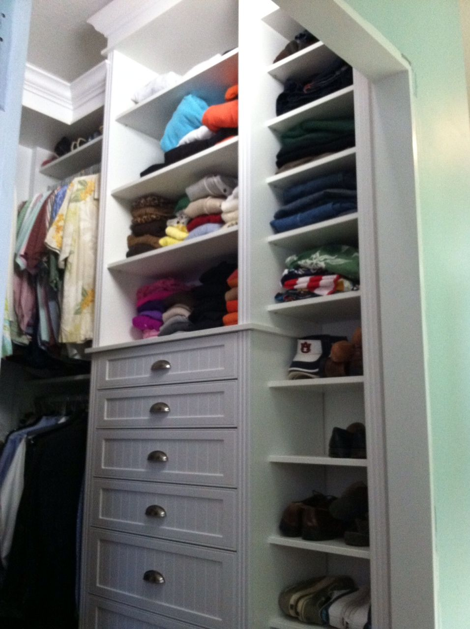 Custom Drilled Master Closet System